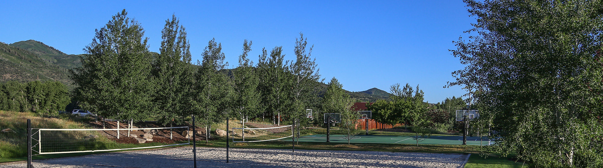 Sports facilities in park