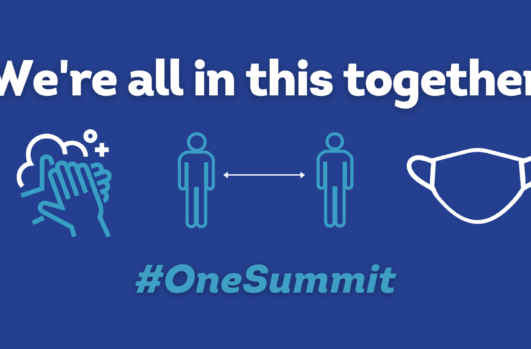 W're all in this together One Summit Banner